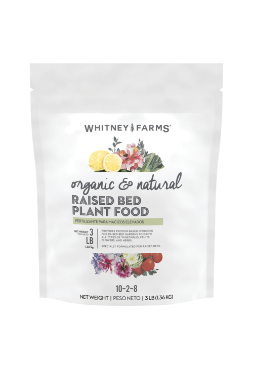 Whitney Farms Organic And Natural Raised Bed Plant Food Bag Front